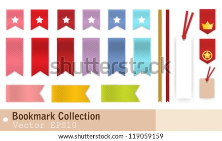 Bookmark Collection - stock vector