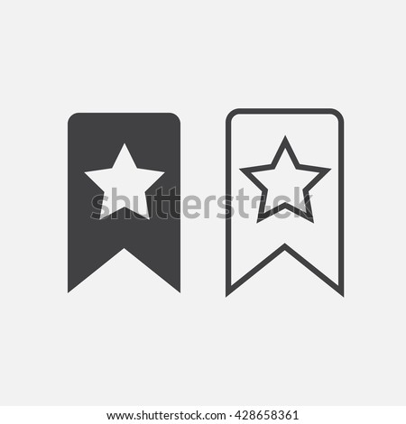 bookmark line icon, outline and solid vector logo, linear pictogram isolated on white - stock vector