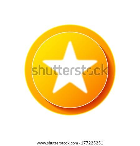 Bookmark | Star icon | button - stock vector