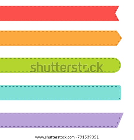 Bookmark vector set isolated on white background