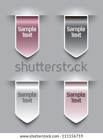 Bookmarks. Eps10 Vector Illustration. - stock vector