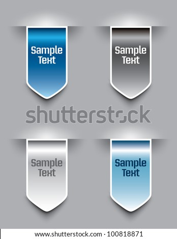 Bookmarks. Vector illustration.