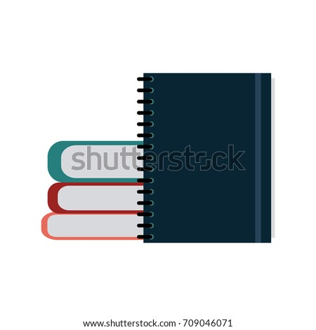 books and notebook icon image