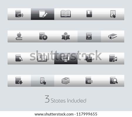 Books // Classic Series +++ It includes 3 buttons states in different layers. +++ - stock vector