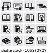 Books icons - stock photo