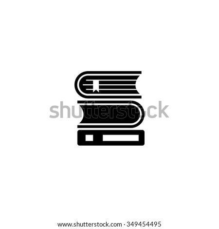 Books library icon - stock vector