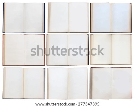 books set, vector - stock vector