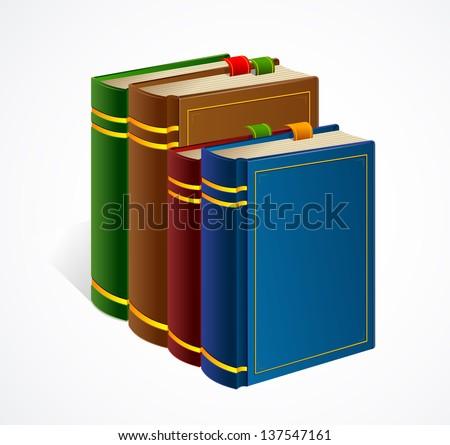 Books shelf icon. Vector Illustration - stock vector