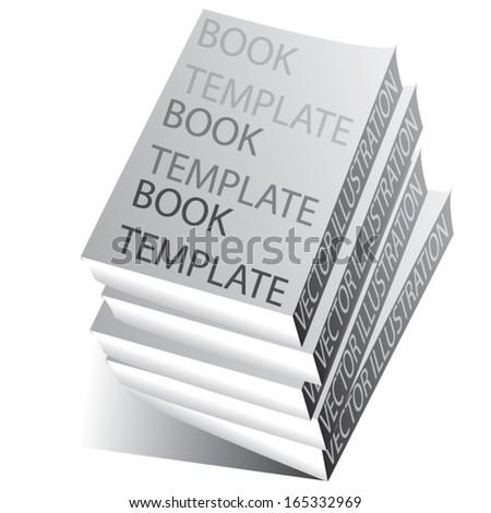 books simple template. blank design. vector illustration - stock vector