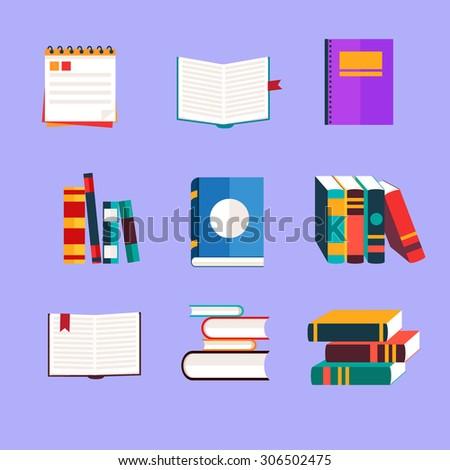 Books studing concept vector illustration - stock vector