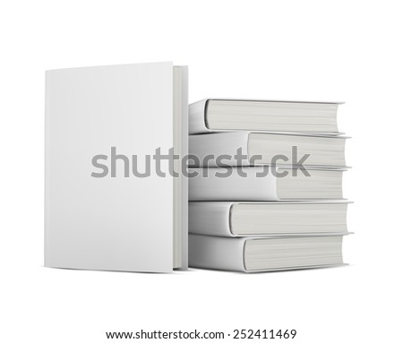 books with blank covers - stock vector