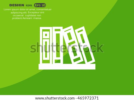 Bookshelf Icon Vector.