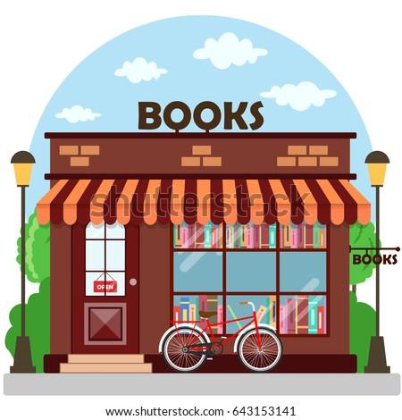 Bookstore building clipart