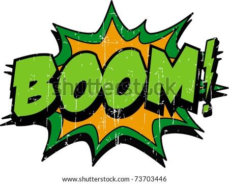 boom - stock vector