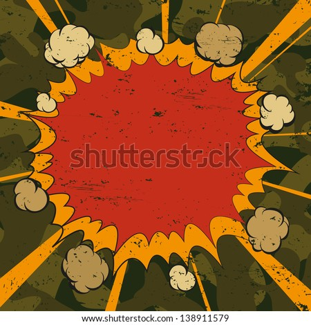 Boom. Comic book explosion, vector illustration - stock vector