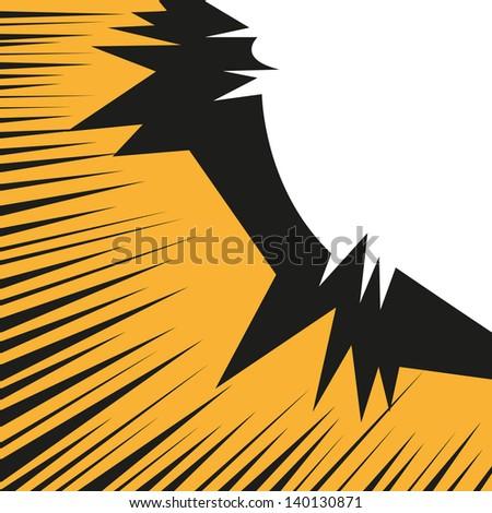 Boom. Comic book explosion vector illustration - stock vector