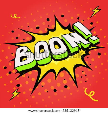 Boom. Comic book explosion vector illustration. - stock vector