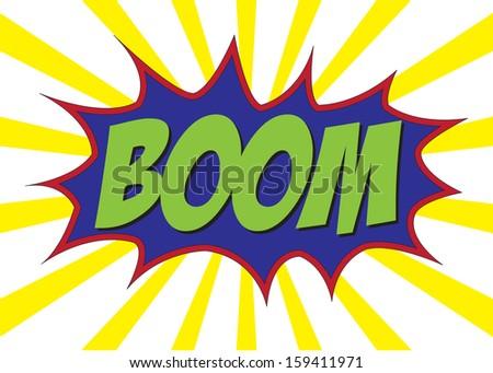 Boom! - Comic Speech Bubble, Cartoon vector images - stock vector