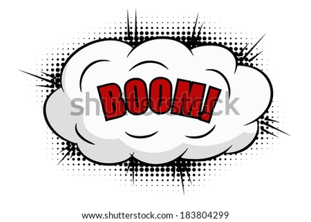 Boom comics icon  - stock vector