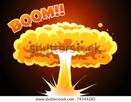 boom explode - stock vector