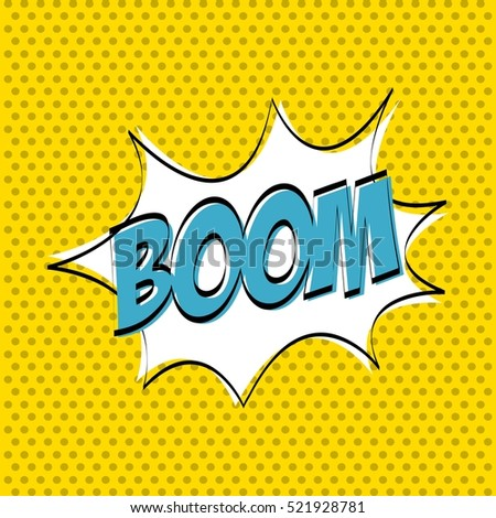 boom explosion icon. comic and pop art concept. colorful design. vector illustration