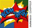 Boom, explosion, pop art style, doodle, vector - stock vector
