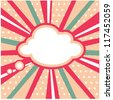 Boom, Pop art inspired illustration of a explosion cloud - stock vector
