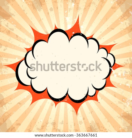 Boom pow cloud background - stock vector