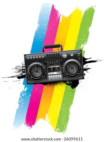 Boombox Radio - stock vector