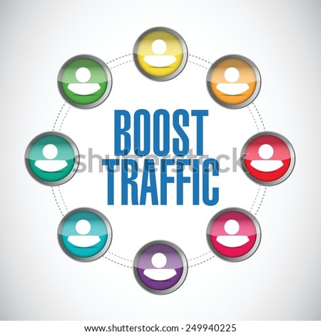 boost traffic people diagram illustration design over a white background - stock vector