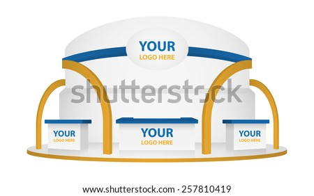 booth event display vector for branding - stock vector