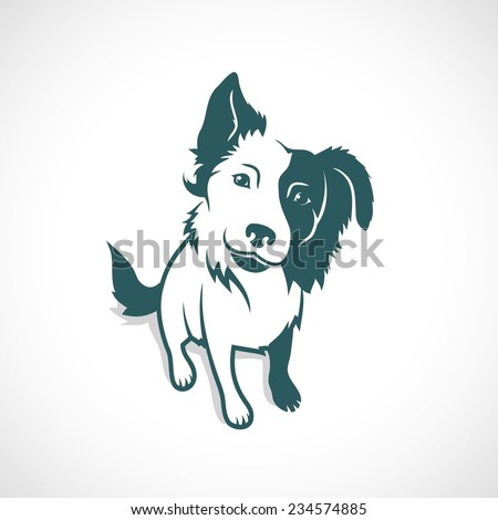 Border Collie - vector illustration - stock vector