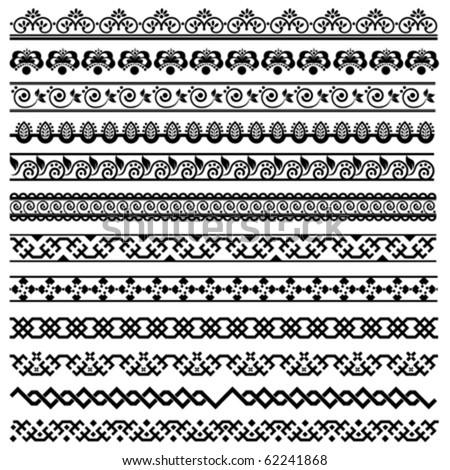 border decoration design elements - stock vector