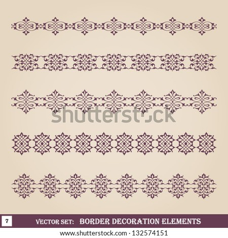 Border decoration elements set 7