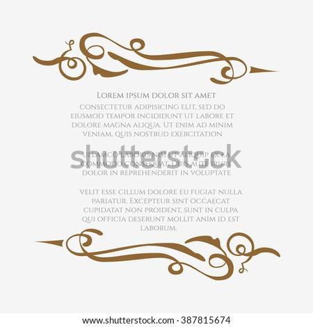 Border designs greeting cards template design stock vector border designs for greeting cards template design for invitation labels poem writing stopboris Image collections