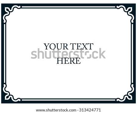 Border frame plaque deco banner vector - stock vector