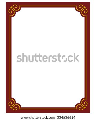 border frame red deco plaque vector stock vector 334536614 rh shutterstock com art deco frames vectors art deco vector frames