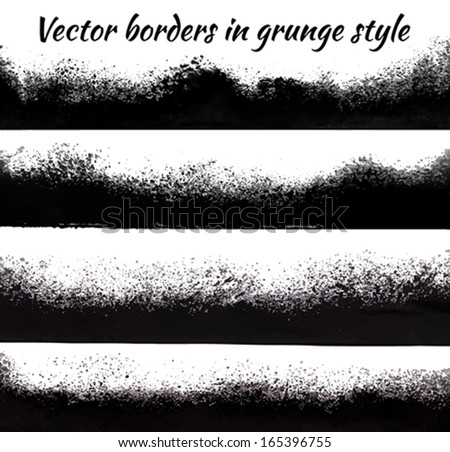Border in grunge style - stock vector