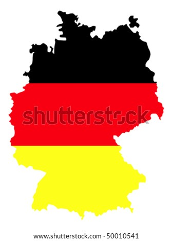 border line of country germany filled with the flag of the state