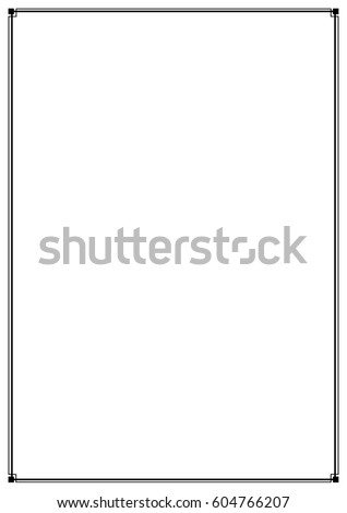 Border Line Page Vector Design Element Simple Narrow Thin Frame