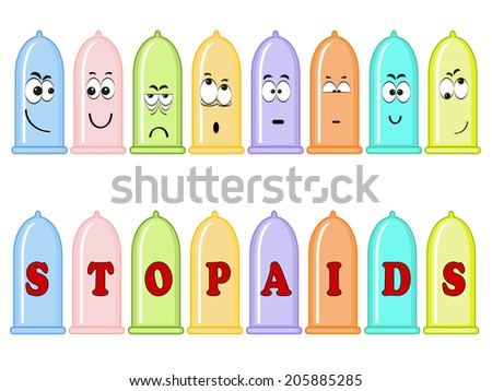"Border "" Stop Aids"". - stock vector"