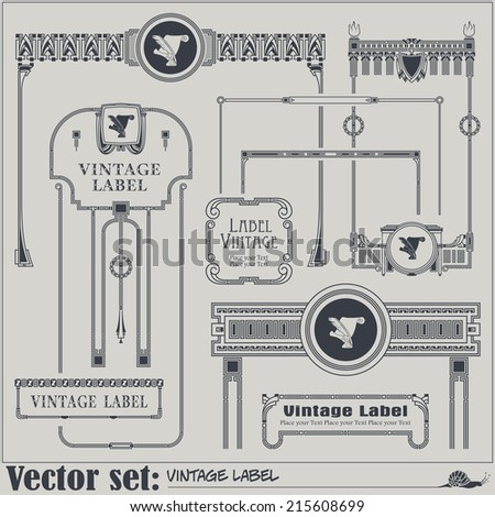 Border style labels on different topics for decoration and design  - stock vector