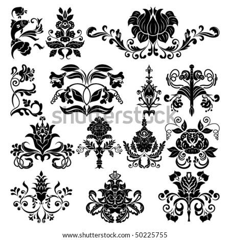 border vector ornament elements - stock vector