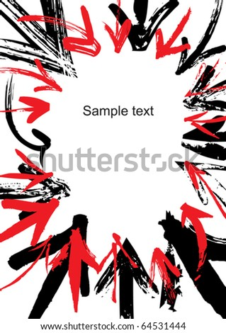 Bordered background of arrows - stock vector