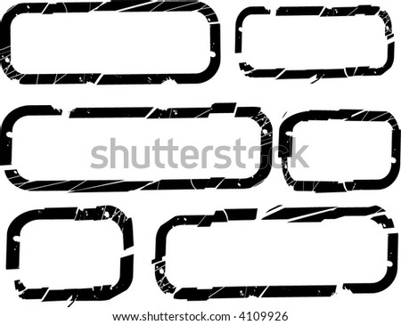 Borders Design elements - stock vector