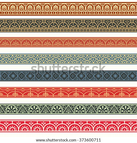 Borders with classical style Roman, Pompeian. Design elements. - stock vector