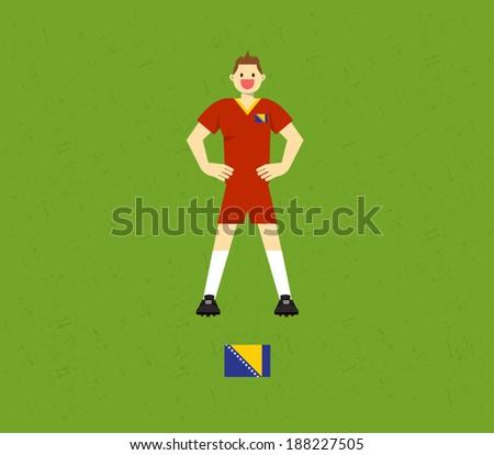 Bosnia Soccer Tables  - stock vector