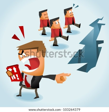 Boss always right. Vector Illustration - stock vector