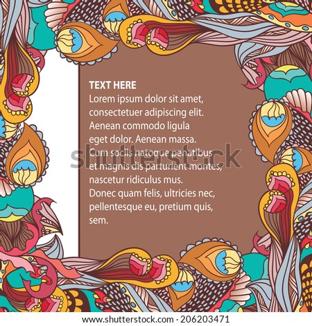 Botanical template. Vector illustration for greeting card, banner, cover etc.