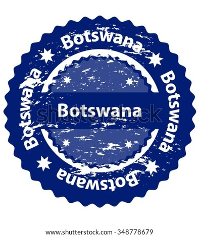 Botswana Country Grunge Stamp - stock vector